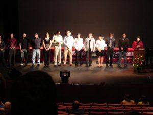 成績優秀者の表彰式