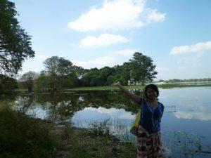 TEBの近くのきれいな湖にて