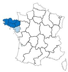 フランス北西部のブルターニュ地方